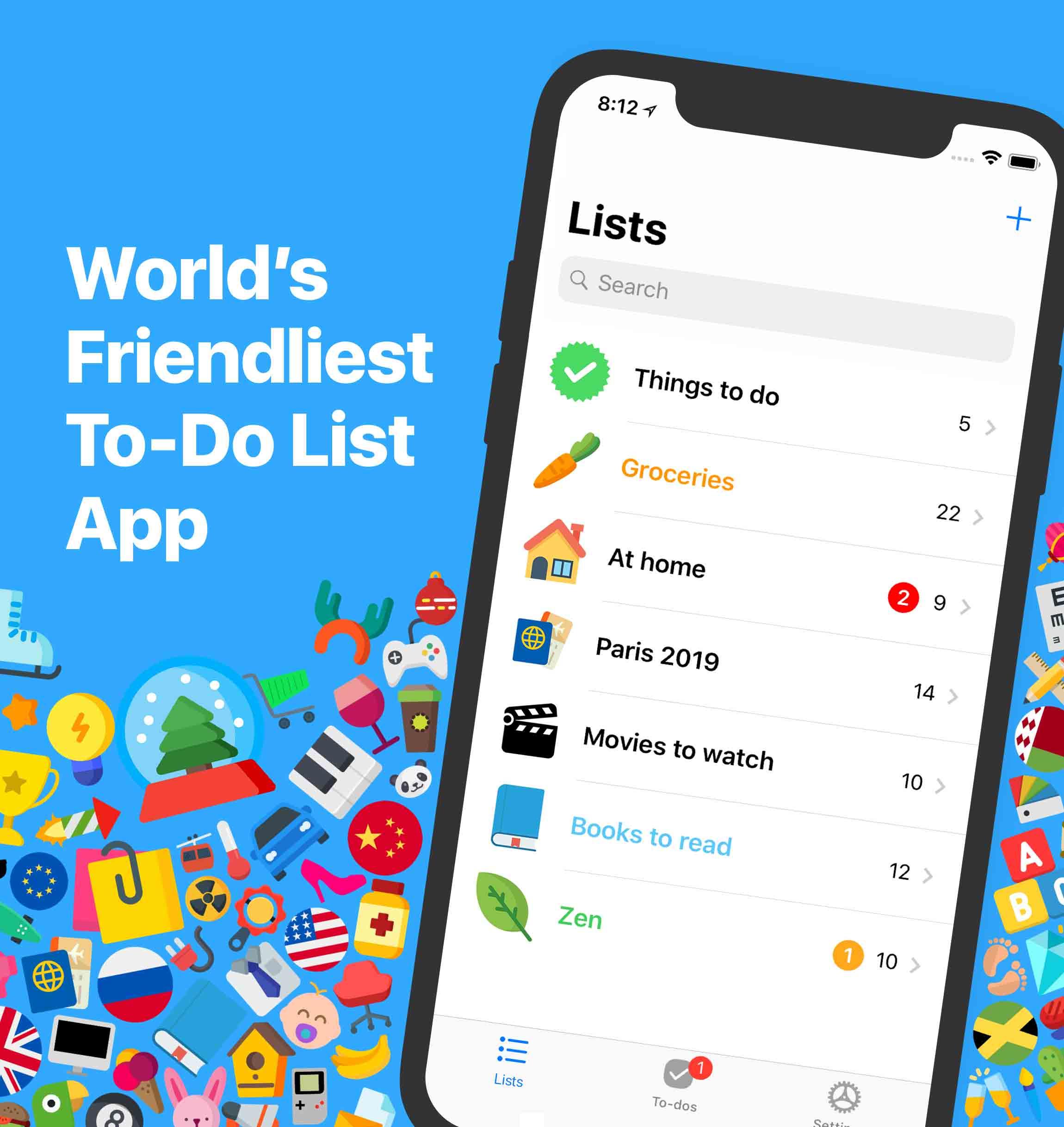 Pocket Lists 2 — Friendliest To-Do List App — iOS & Web